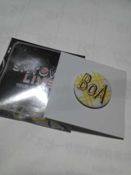 SMTOWN LIVE BOA 刺繍バッチ 新品 ホワイト&イエロー