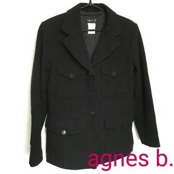 正規 agnes b. アニエス ベー 羊毛  ジャケット 黒