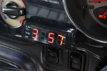 3IN1マルチメーター デジタルクロック 電圧 温度表示機能付き