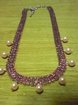 ピンク系ネックレス