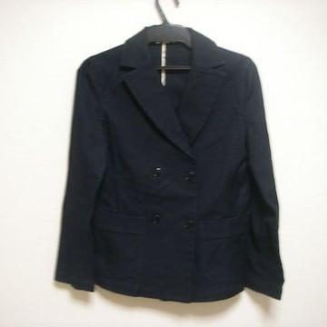 マリクレール 9ジャケット 黒よりのネイビー