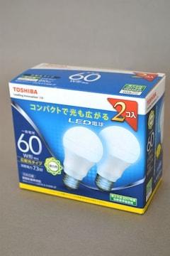新品 東芝 TOSHIBA LED電球 昼白色 2個セット LDA7N-G-K/60W-2P