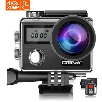 Campark X20 アクションカメラ 4K高画質 2000万画素 2インチタ