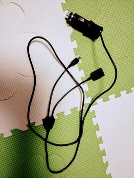 車用スマホ充電器 マイクロUSB対応