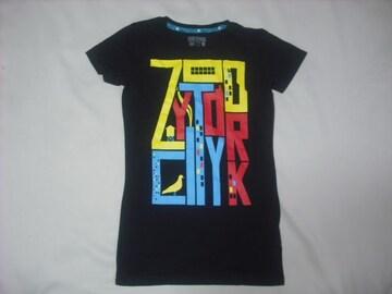 wr489 女 ZOO YORK ズーヨーク 黒 半袖Tシャツ Sサイズ ★