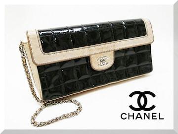 CHANELシャネル チョコバー チェーンショルダー バッグ