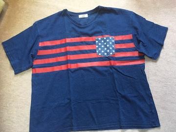 ロデオクラウンズ*ロゴ&USA/ゆったりTシャツ*F、中古