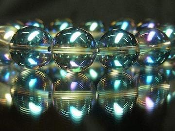 超越エネルギーを放つ!!ブルーオーラ14mm数珠ブレスレット