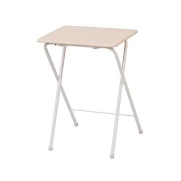 折りたたみミニハイテーブル メイプル/アイボリー