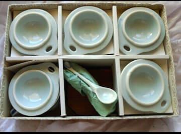 新品 丹波焼 雅峰作 茶碗蒸し 5客