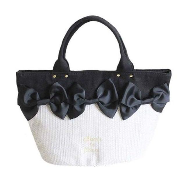 TB6即決 新品 リボン バッグ 黒 サマンサ マイケルコース ピンキー スナイデル 好きに  < 女性ファッションの