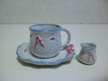 可愛いコーヒカップの置物
