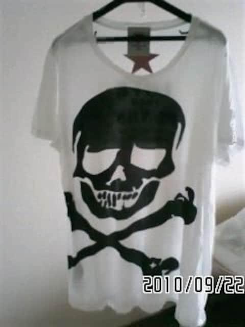 スーパーラヴァーズ・スカル&スター柄変形シルエットTシャツ < ブランドの