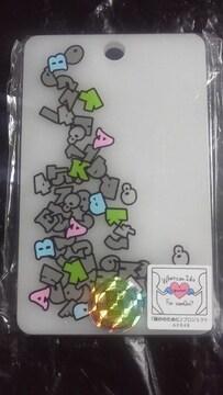 AKB48 公式 アクリル パスケース ロゴ デザイン ホワイト 非接触型ICカード用