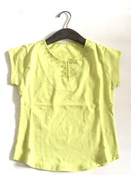 新品〈豪華刺繍〉エキゾティック半袖Tシャツ(グリーン)7号