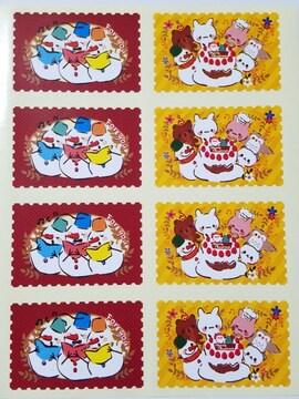 キュートギフトシール《シンギングパーティ》16枚★キュートクリスマス