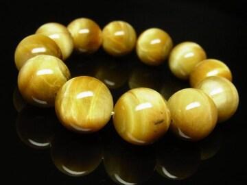 決断力を養う!!ゴールデンタイガーアイ16mm数珠ブレスレット 開運石