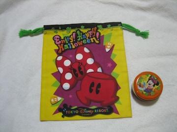 ディズニー 丸型缶ケース/巾着袋 ミッキーマウス ハロウィン2015 TDL