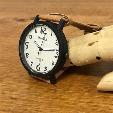 ★腕時計★レディース・メンズ★レザーベルトウォッチ★茶★