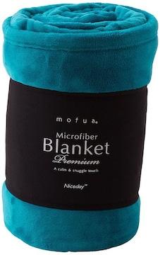 毛布 プレミアムマイクロファイバー シングル ターコイズ