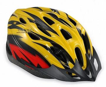 自転車用 サイクリング ヘルメット イエロー&レッド