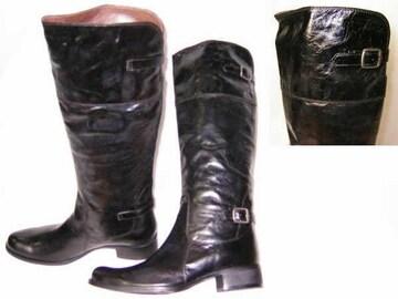 新品サヴァサヴァcavacava本革ジョッキーブーツ16005BL22cm