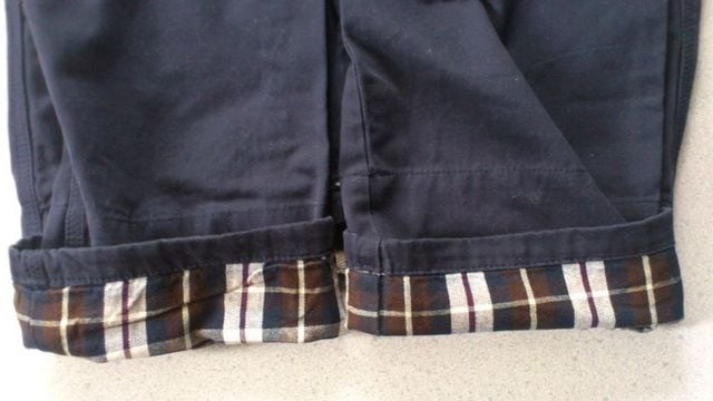 激安86%オフサスペンダー、チノパン、ズボン(新品タグ、紺、ウエスト74) < 男性ファッションの