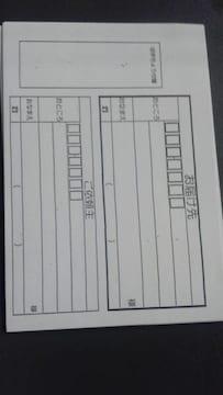 郵便局、普通郵便 定形外郵便 ゆうメール 発送用宛名書き用紙10枚