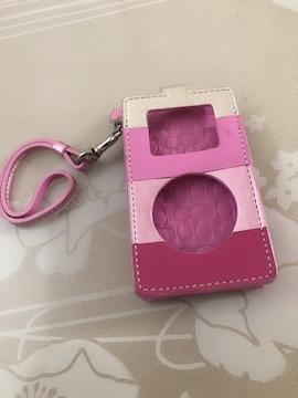 美品★コーチ COACH iPod ケース ピンク レディース