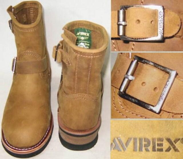 AVIREXアビレックス新品ショート エンジニア ブーツ2225茶us9.5 < 男性ファッションの