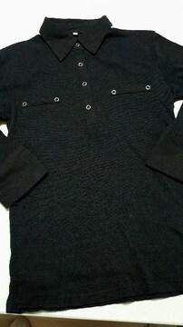 黒の7分袖★カットソー★細身のLLサイズ