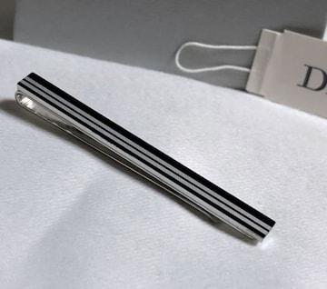 正規美 Dior Hommeディオールオム コンビカラーネクタイピン シルバー×ブラック タイバー