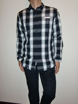 RELIGION☆デザインチェックシャツ☆L