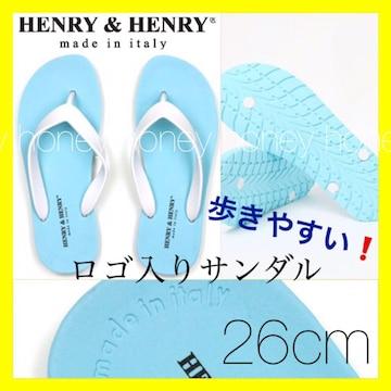 歩きやすい●ロゴ入りビーチサンダル●HENRY&HENRY●25.5〜26cm