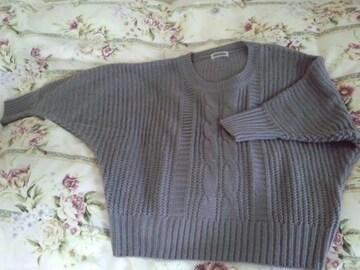 ナイスクラップドルマンゆったりセーター
