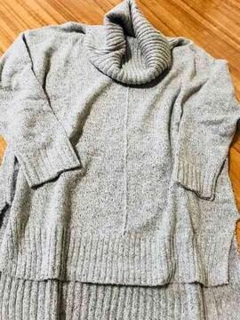 ☆新品☆ゆったり柔らかふんわり感ハイネック系セーターグレーM