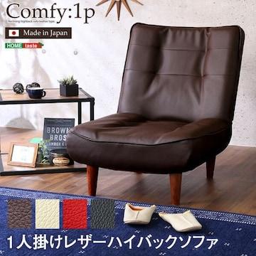 1人掛ハイバックソファ(PVCレザー)Comfy SH-07-CMY1P