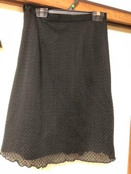 ひざ丈/スカート/ブラック/Sサイズ/61cm/黒/レース