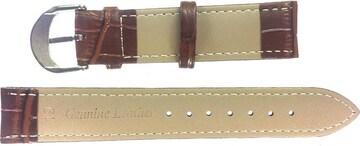 Ounier社製 牛革時計バンド ブラウン 19mm