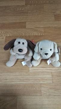 ☆かわいいぬいぐるみ・人形 いぬ/犬 2匹★