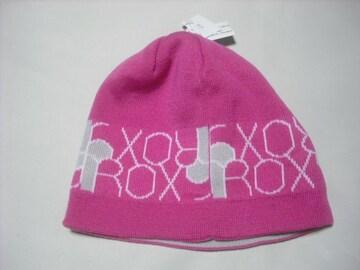 wb626 ROXY ロキシー リバーシブル ニット帽 ピンク