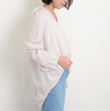 【新品】CIAOPANIC TYPY*レーヨンツイルドレープシャツ・free