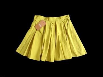 新品 定価5985円 ダズリン DazzliN 黄色 フレア ミニ スカート