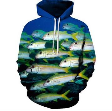 新作!南洋の魚群!速乾!かっこいい!パーカーMサイズ新品