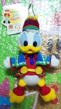 ディズニー TDL クリスマス サンタヴィレッジ 30周年 ぬいぐるみバッジ ドナルド