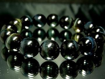 鷹目石ブルータイガーアイ12ミリ数珠