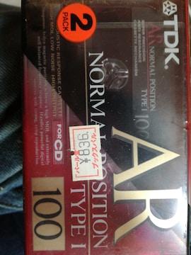 新品カセットテープ。当時でも珍しい100分テープ2本送料無料