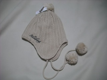 wb322 女 BILLABONG ビラボン ボンボン 耳当て付き ニット帽