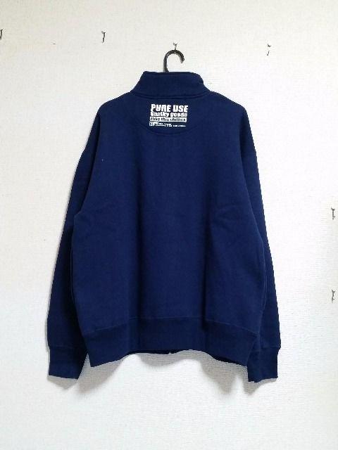 ☆紺色ハイネック☆裏起毛長袖ジップセーター☆ < 女性ファッションの