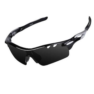スポーツサングラス 偏光 ブラック&グレー